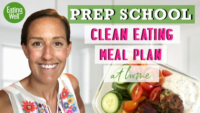 Clean-Eating Meal Plan For Beginners | Getting Back on Track | Prep School