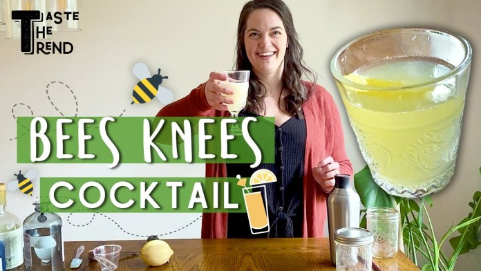 #StayHome and Make This Tasty Bees Knees Cocktail   Classic Gin Recipe   Taste The Trend