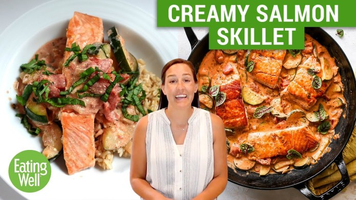 This Creamy Salmon Skillet Recipe is PERFECT for Improving Brain Health | Prep School | EatingWell