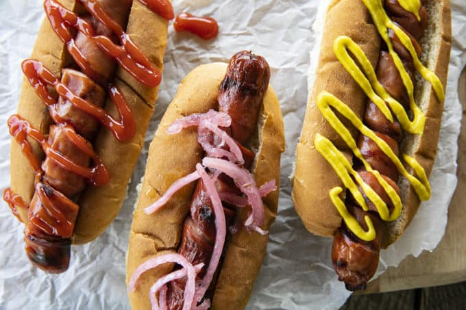 A Spiral Hot Dog maximizes the grilled crispy bits making them the ultimate char-grilled hot dogs for holding onto all the mustard, ketchup, relish, and onions that a good hot dog deserves!