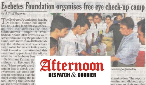 free eye check-up camp