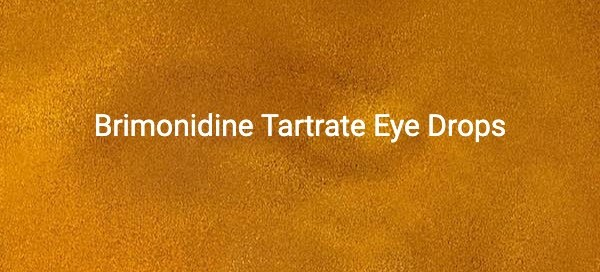 Brimonidine Tartrate Eye Drops