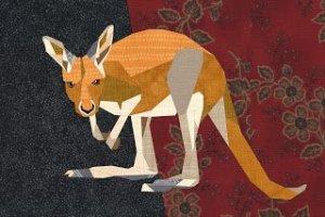 Kangaroo Joey by Quilt Art Design