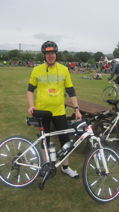 Me and my bike at the London to Brighton bike ride organized by the British Heart Foundation.