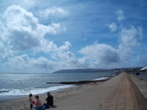 Sandown Beach on a nice day in August 2014