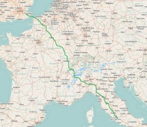 Via Francigena Route