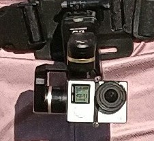 Feiyu Tech Wearable Gimbal mounted on a GoPRO Chest Strap