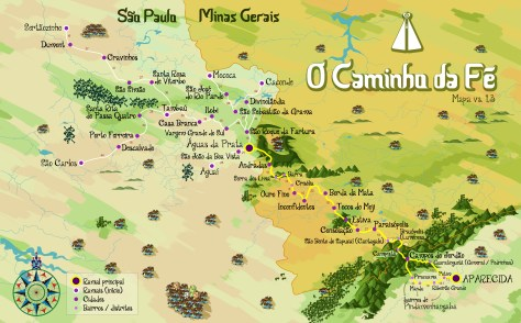 Official Map of the Faith's Way (Caminho da Fé)