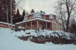 THe beautiful house that we called home for the weekend at Mont Tremblant.