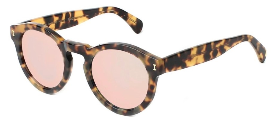 Illesteva Leonard Tortoise with Rose Mirrored lenses side