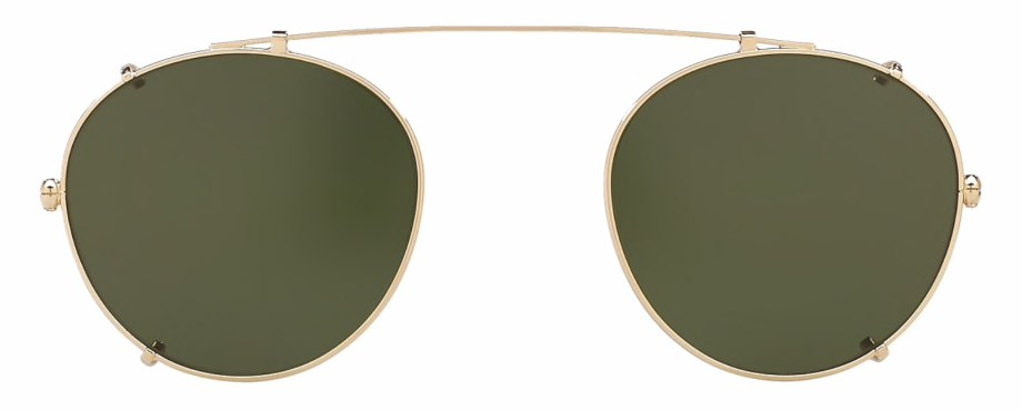 Oliver Peoples Coleridge Clip Gold _ Green