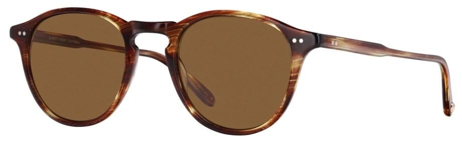 Sunglasses Garrett Leight HAMPTON Chestnut Hampton_46_Chestnut-Barley_Polar_2001-46-CN-BA_PLRv2_1296x