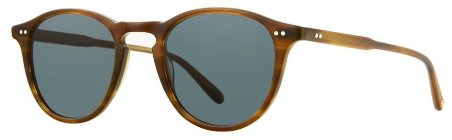 Sunglasses Garrett Leight HAMPTON Matte Saddle Tortoise Hampton-46-Matte-Saddle-Tortoise-Semi-Flat-Bluesmoke_2001-46-MSDT-SFBS_v2_1296x