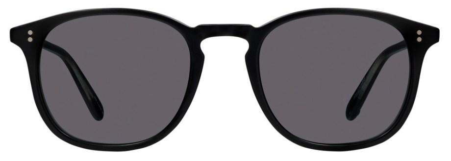 Sunglasses Garrett Leight KINNEY Matte Black Kinney_49_Matte_Black-Semi-Flat_Blue_Smoke_2007-49-MBK-SFBS_1296x