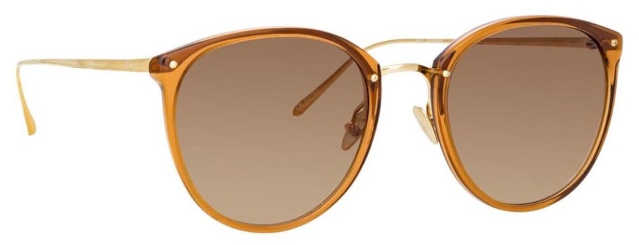 Sunglasses Linda Farrow CALTHORPE C75 – Brown 3:4 side