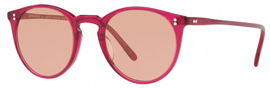 Sunglasses Oliver Peoples O'MALLEY – Bright Magenta –Photocromic Brown Gold 3_4 side