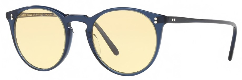 Sunglasses Oliver Peoples O'MALLEY – Bright Navy – Yellow 3_4 side