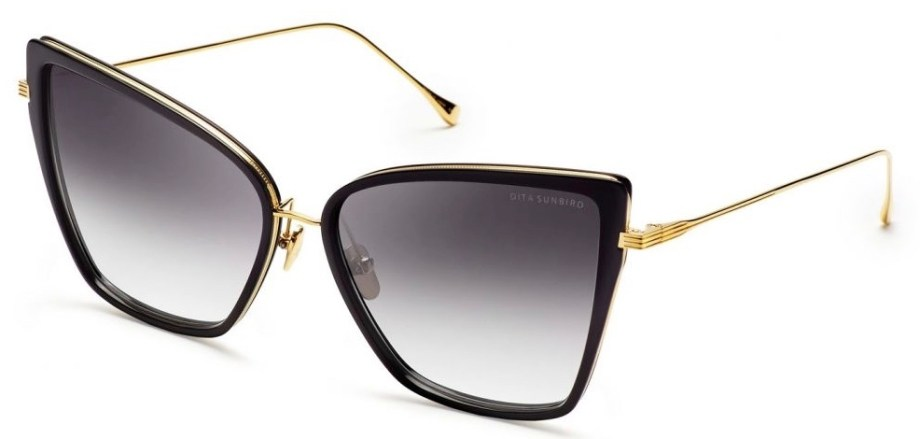 dita sunbird black gold sunglasses 3:4 side
