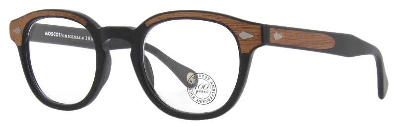 lunettes-de-vue-moscot-lemtosh matte black wood 3:4 side