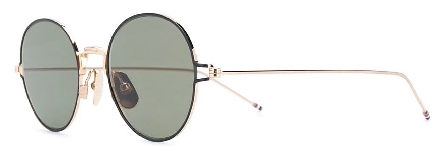thom browne eyewear TB915 gold round sunglasses side