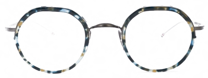 thom-browne-eyewear-tb911-tortoise-round-glasses front
