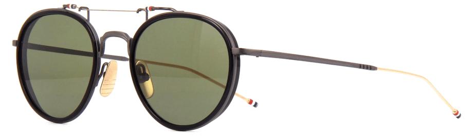 thom-browne-eyewear-tbs815-white gold black-sunglasses 3:4 side