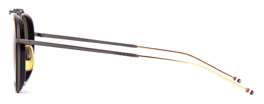 thom-browne-eyewear-tbs815-white gold black-sunglasses side
