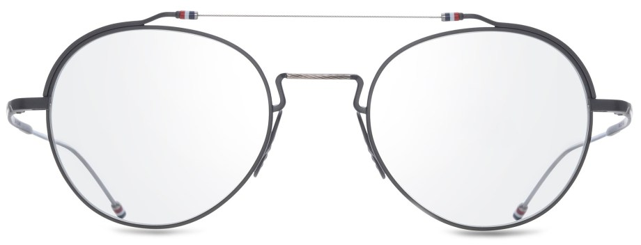 thom browne optical tbx 912 03 black iron silver