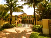 A palatial home along North Flagner Drive in West Palm, Florida