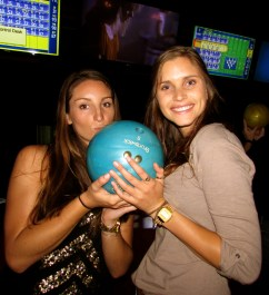 Sam and Mieke with the magic blue ball