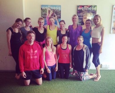 Our group of Sexy Yogis after the sunshine yoga class