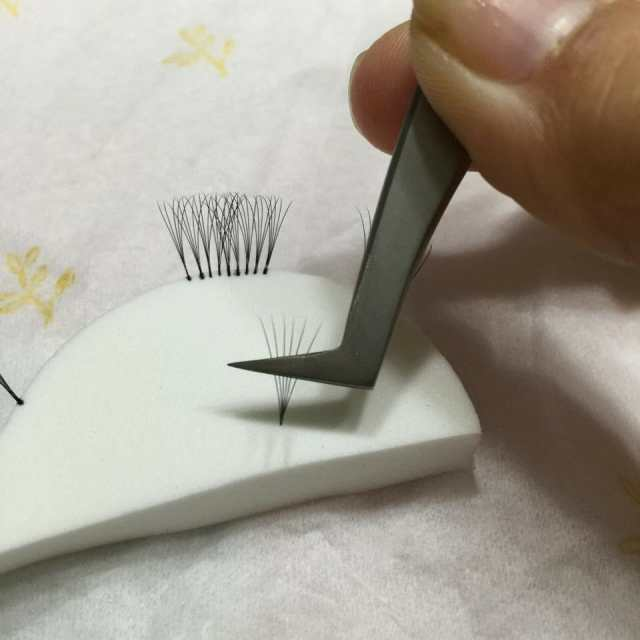 Applying Russian Volume Lashes