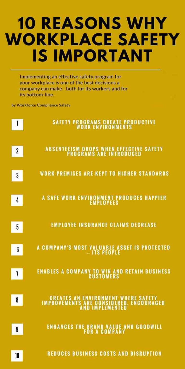 10 reasons why health and safety are important