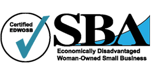 Logo: SBA Certified Woman-Owned Business