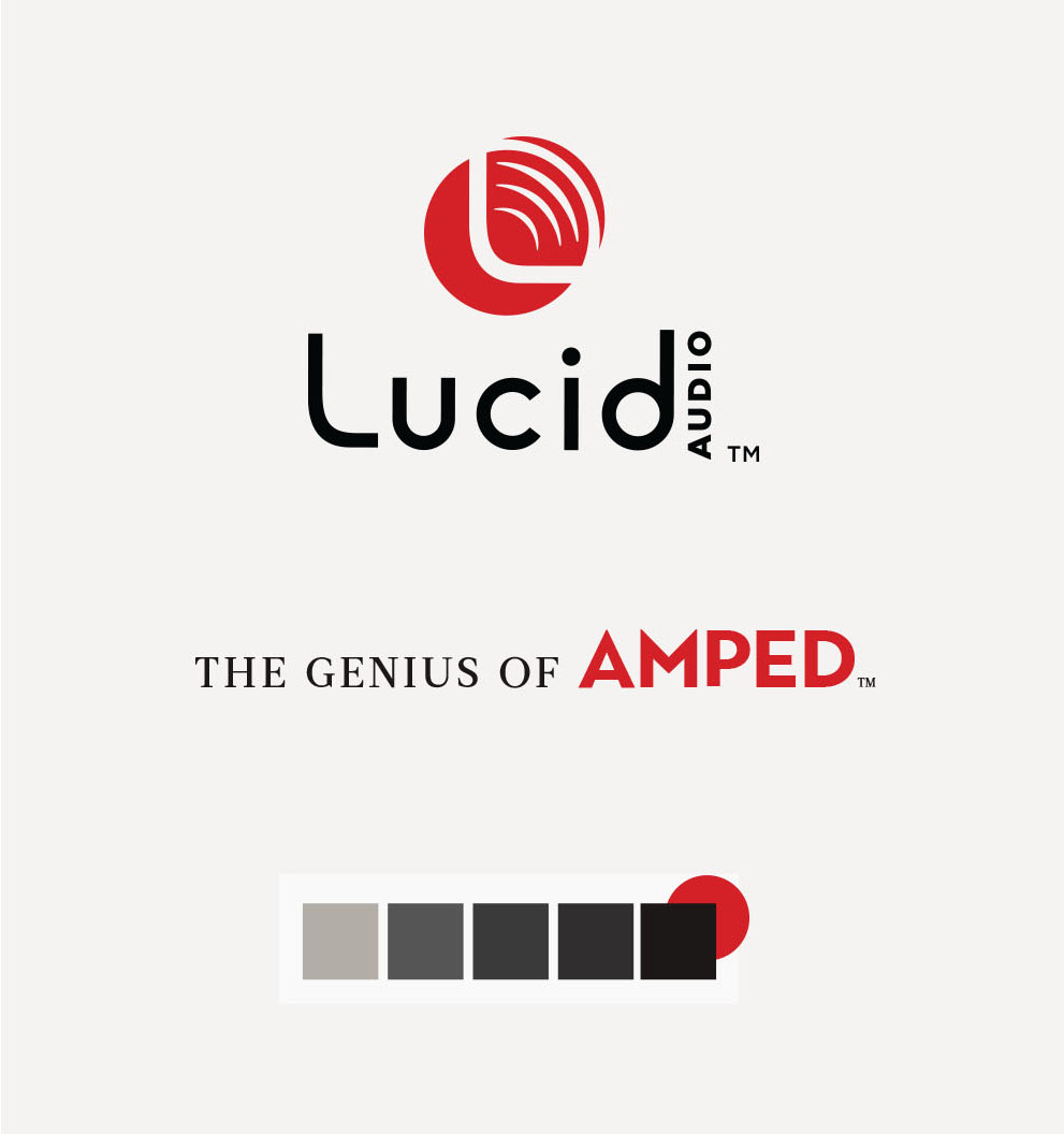 Lucid Audio Branding, Design, and Color Palette