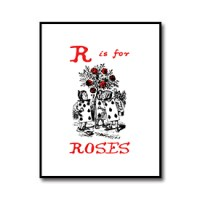 R is for Roses – Alice in Wonderland Nursery Print Download //