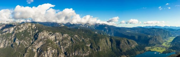 Bohinj from Vogel cable car top station. Julian Alps. Slovenia