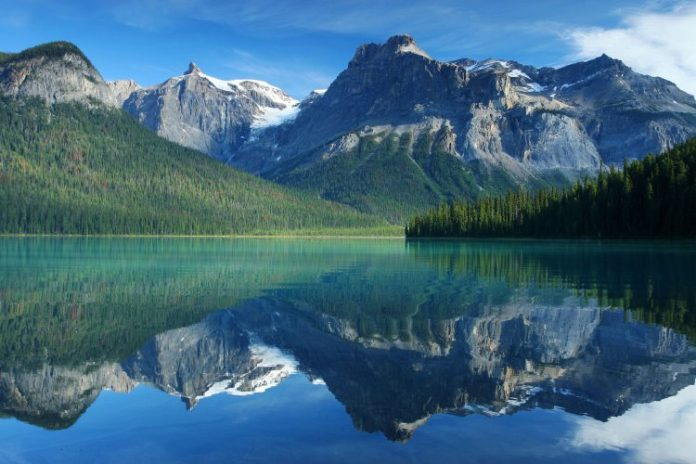 Emerald lake in Yoho national Park Canadian Rockies