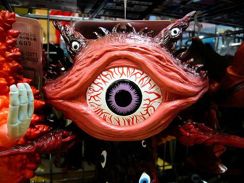 grotesque eye