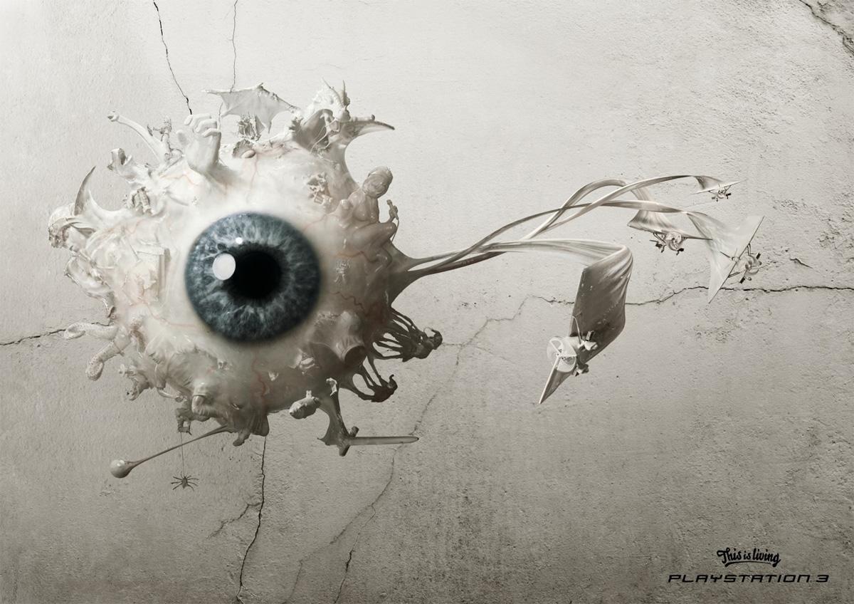 sculpted eyeball