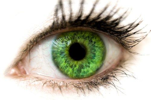 big bright green eye