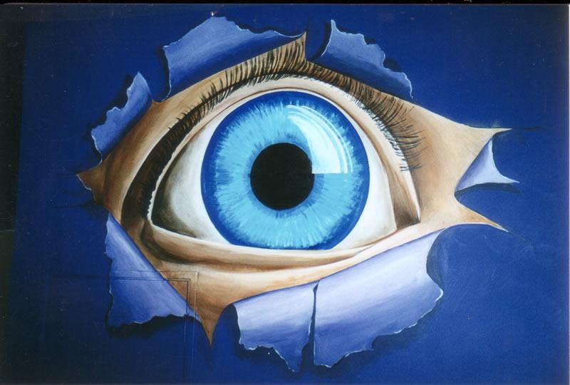 blue eyeball