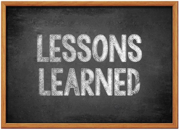 lessons learned chalkboard - 2017 Retrospective : Lessons Learned.