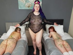wax play with (l-r) Penny Banks, Mxtress Valleycat, Miss Abigail
