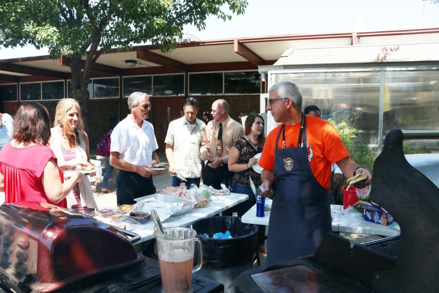 GALLERY: Faculty gather for team-building barbecue cookout