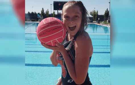 Senior sets new water polo record