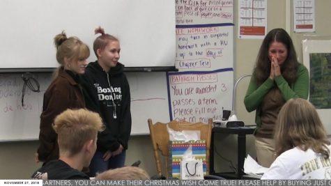 Students comfort teacher with stellar surprise