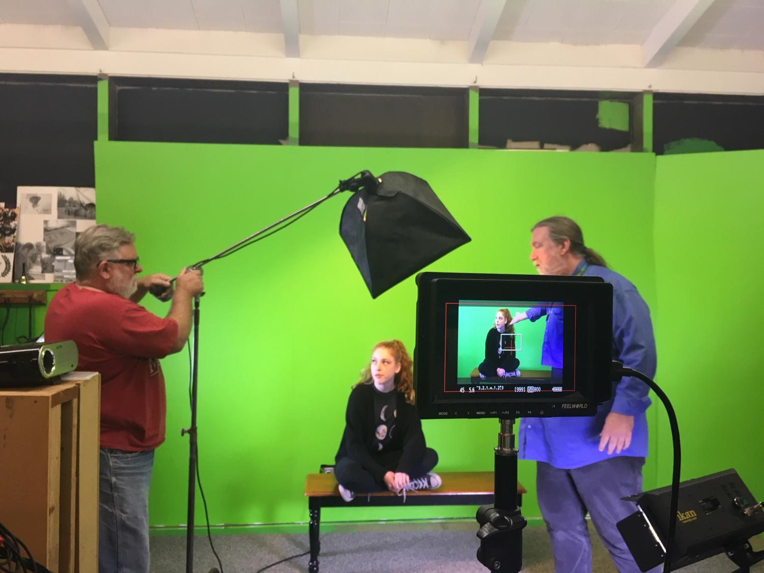 Junior, Cassidy Noonan is on set for the upcoming thiller web show, Shivers. This is Noonan's first time acting on camera in a pre-filmed environment. She enjoys witnessing what goes on behind-the-scenes.