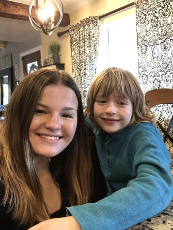 Kaitlyn with her cousin Sawyer Greenhalgh. Roberts spends much of her time working with children, some of them special needs, and plans on pursuing a career in pediatric nursing.