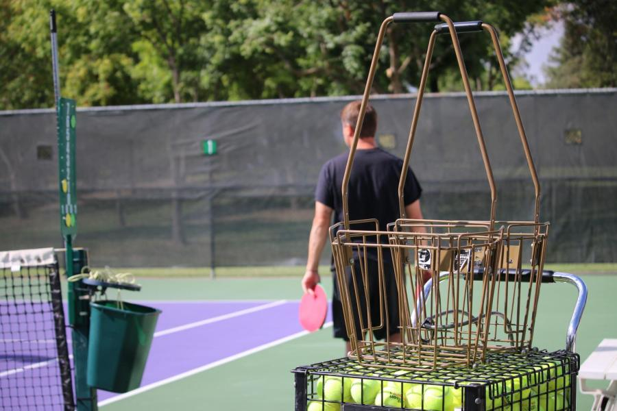 After girls tennis was left without a coach this season PE teachers Josh Errecart and Melissa Stevens stepped up to fill in the gaps.